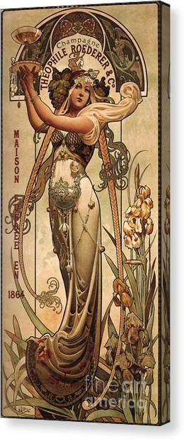 Champagne Canvas Print - Vintage Champagne Ad by Mindy Sommers