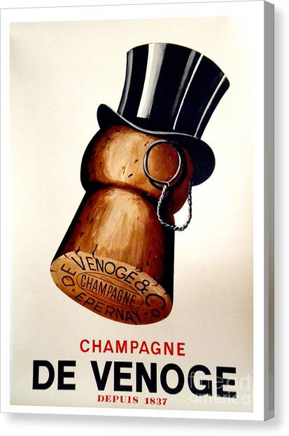 Champagne Canvas Print - Vintage Champagne by Mindy Sommers