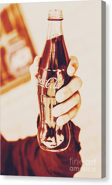 Soda Canvas Print - Vintage Cheers by Jorgo Photography - Wall Art Gallery