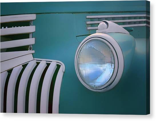 Turn Signals Canvas Print - Vintage - Chevrolet Truck - Detail 1 by Nikolyn McDonald