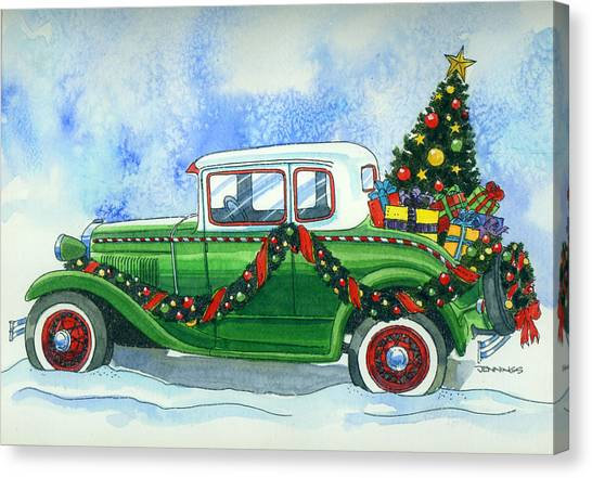Vintage Christmas Canvas Print By Mark Jennings