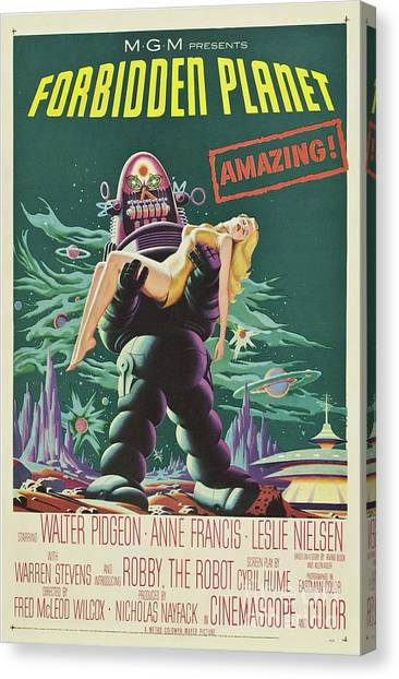 Forbidden Planet Canvas Print - Vintage Classic Movie Posters, Forbidden Planet by Esoterica Art Agency