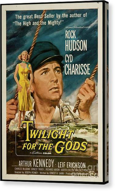 Charisse Canvas Print - Vintage Classic Movie Posters, Twilight For The Gods by Esoterica Art Agency