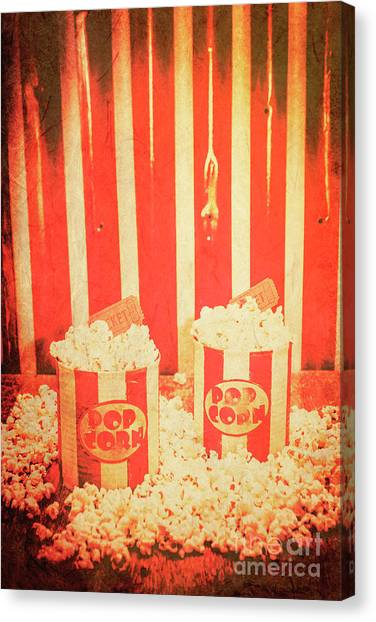 Popcorn Canvas Print - Vintage Classical Cinema Interval Concept by Jorgo Photography - Wall Art Gallery