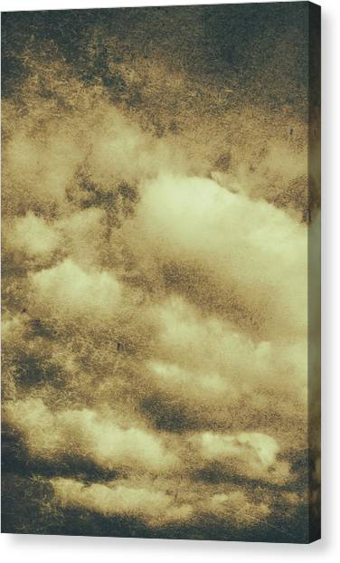 Cloudscape Canvas Print - Vintage Cloudy Sky. Old Day Background by Jorgo Photography - Wall Art Gallery