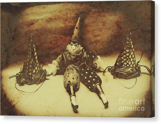 Party Canvas Print - Vintage Clown Doll. Old Parties by Jorgo Photography - Wall Art Gallery
