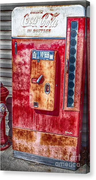 Vintage Coca-cola Machine 10 Cents Canvas Print,photographic Print,art Print,framed Print, Canvas Print