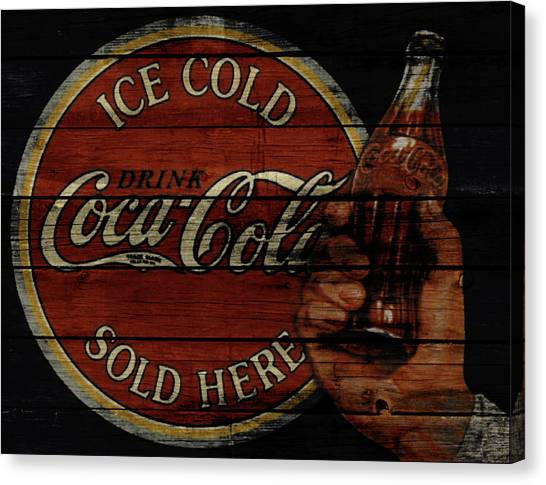 Mountain Dew Canvas Print - Vintage Coca Cola Sign 1a by Brian Reaves