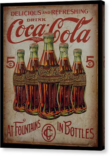 vintage Coca Cola sign Canvas Print