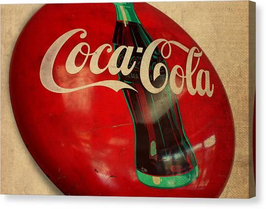Coca Cola Canvas Print - Vintage Coca Cola Sign by Design Turnpike