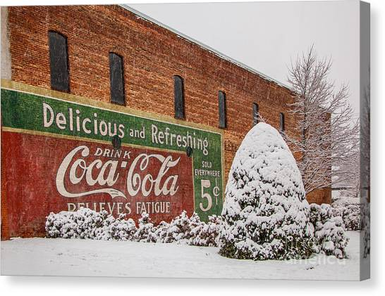 Vintage Coca Cola Sign New Albany Mississippi Canvas Print