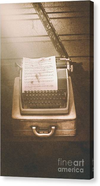 Cia Canvas Print - Vintage Code Breaking Enigma Machine  by Jorgo Photography - Wall Art Gallery