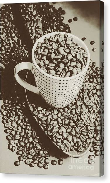 Coffee Beans Canvas Print - Vintage Coffee Art. Stimulant by Jorgo Photography - Wall Art Gallery