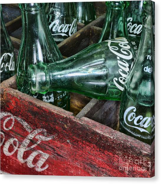 Coca Cola Canvas Print - Vintage Coke Square Format by Paul Ward