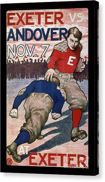 Football Canvas Print - Vintage College Football Exeter Andover by Edward Fielding