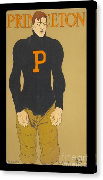 Princeton University Canvas Print - Vintage College Football Princeton Guard by Edward Fielding