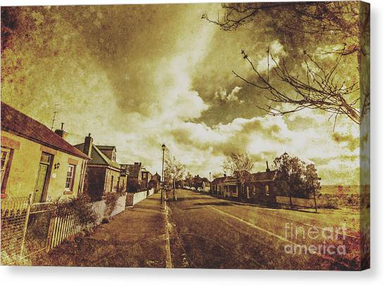 Cottage Style Canvas Print - Vintage Colonial Street by Jorgo Photography - Wall Art Gallery