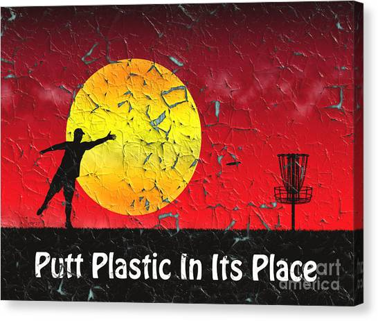 Disc Golf Canvas Print - Vintage Disc Golf Billboard by Phil Perkins