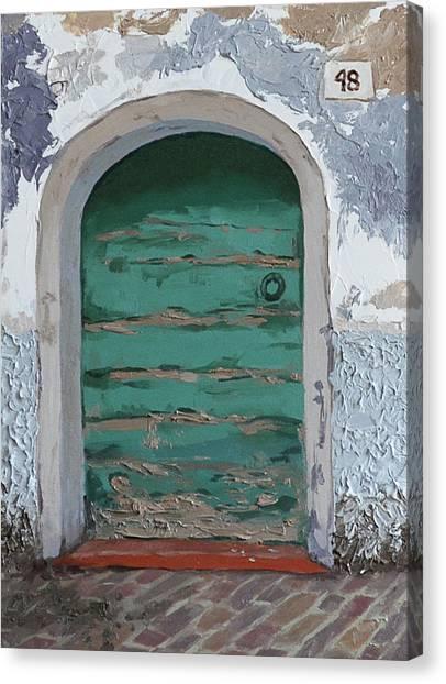 Vintage Series #2 Door Canvas Print