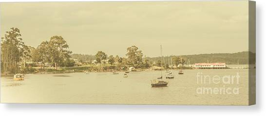 Wide Canvas Print - Vintage Dover Harbour Tasmania by Jorgo Photography - Wall Art Gallery