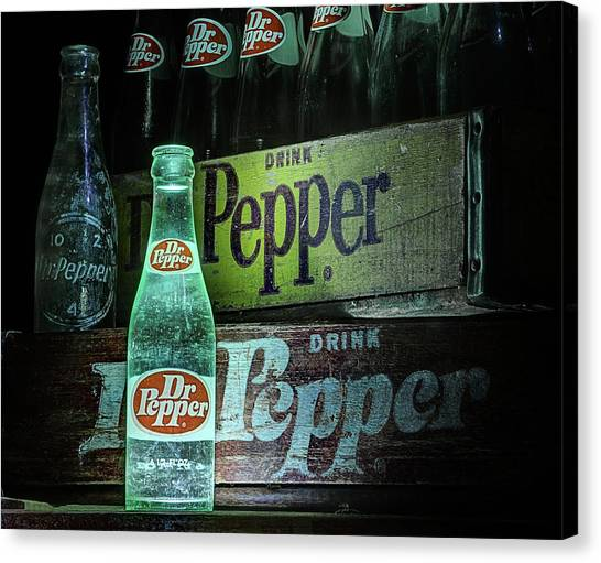 Dr. Pepper Canvas Print - Vintage Dr Pepper by JC Findley