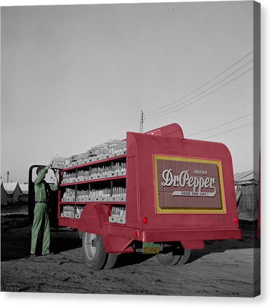 Dr. Pepper Canvas Print - Vintage Dr Pepper Truck by Andrew Fare