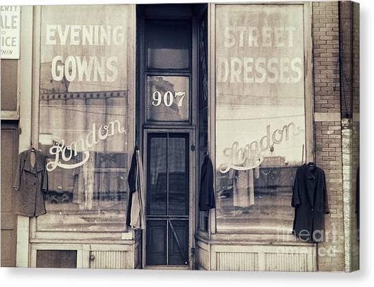 Clothing Store Canvas Print - Vintage Dress Shop by Mindy Sommers
