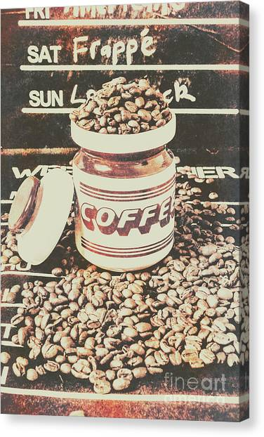 Caffeine Canvas Print - Vintage Drinks Decor  by Jorgo Photography - Wall Art Gallery