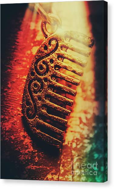Egyptian Canvas Print - Vintage Egyptian Gold Comb by Jorgo Photography - Wall Art Gallery