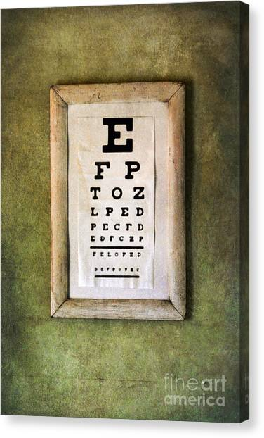 Vintage Eye Chart Canvas Print