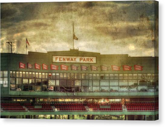 Boston Red Sox Canvas Print - Vintage Fenway Park - Boston by Joann Vitali
