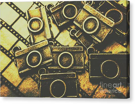 Vintage Camera Canvas Print - Vintage Film Camera Scene by Jorgo Photography - Wall Art Gallery
