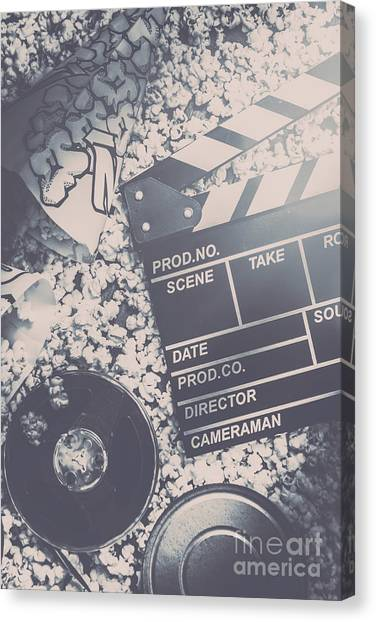 Popcorn Canvas Print - Vintage Film Production by Jorgo Photography - Wall Art Gallery