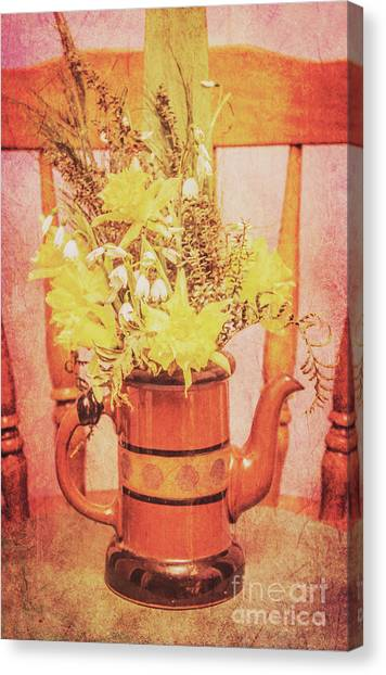 Coffee Plant Canvas Print - Vintage Fine Art Still Life With Daffodils by Jorgo Photography - Wall Art Gallery