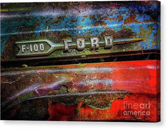 Vintage Ford F100 Canvas Print
