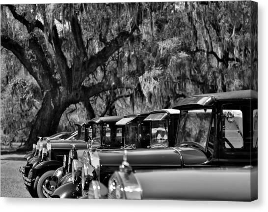 Vintage Ford Line-up At Magnolia Plantation - Charleston Sc Canvas Print
