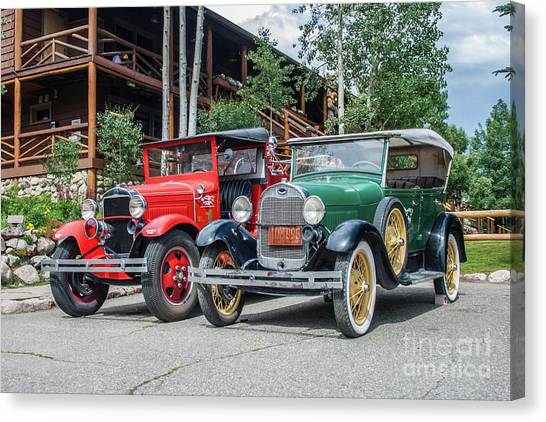 Vintage Ford's Canvas Print