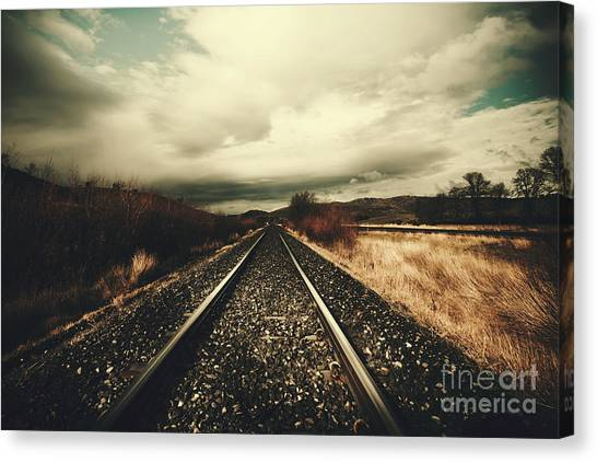 Approach Canvas Print - Vintage Freight Lines And Logistics by Jorgo Photography - Wall Art Gallery