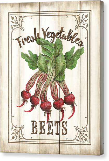 Vegetarian Canvas Print - Vintage Fresh Vegetables 1 by Debbie DeWitt
