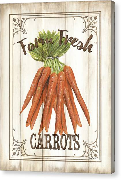 Vegetarian Canvas Print - Vintage Fresh Vegetables 3 by Debbie DeWitt