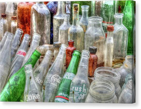 Mountain Dew Canvas Print - Vintage Glass II by Irwin Seidman
