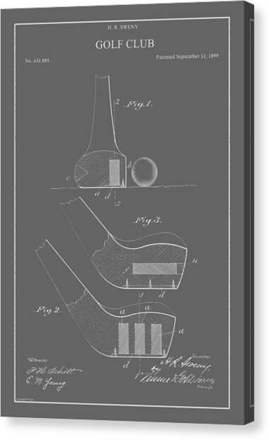 Vintage Golf Club Patent Canvas Print
