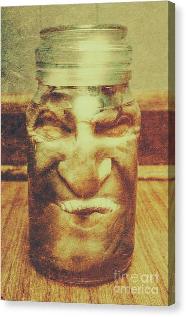 Monsters Canvas Print - Vintage Halloween Horror Jar by Jorgo Photography - Wall Art Gallery