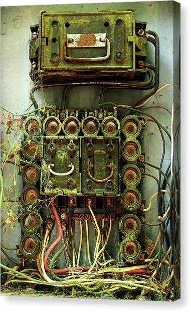 Vintage Household Fuse Box Canvas Print