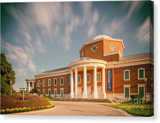 Texas State University Texas State Canvas Print - Vintage Image Of The Mayborn Museum Complex At Baylor University - Waco Central Texas by Silvio Ligutti