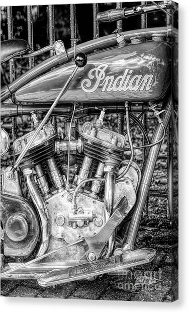 Scouting Canvas Print - Vintage Indian 101 Scout by Tim Gainey