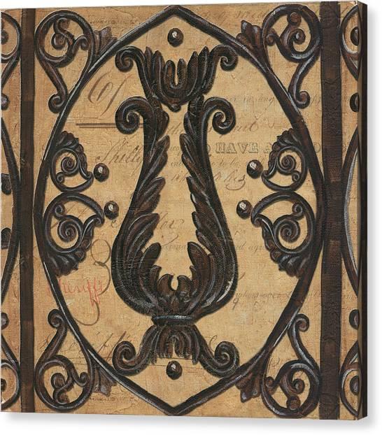 Gate Canvas Print - Vintage Iron Scroll Gate 2 by Debbie DeWitt