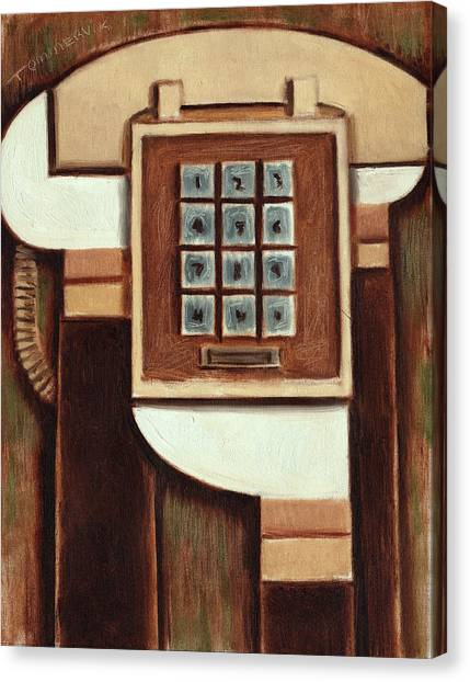 Tommervik Vintage Landline Phone Art Print Canvas Print
