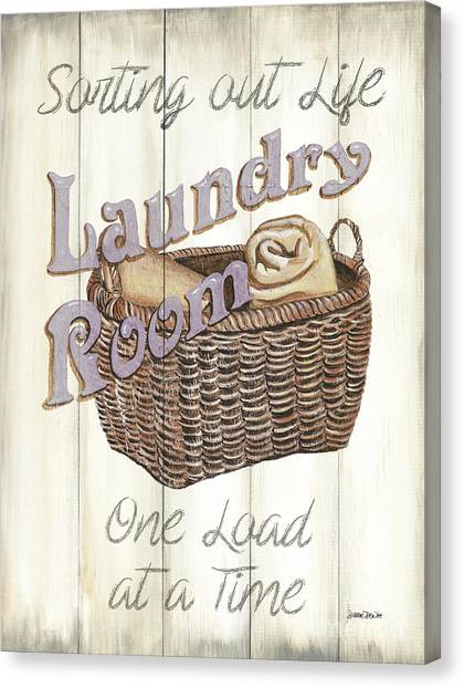 Laundry Canvas Print - Vintage Laundry Room 2 by Debbie DeWitt
