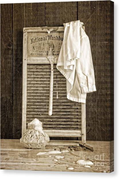 Vintage Canvas Print - Vintage Laundry Room by Edward Fielding